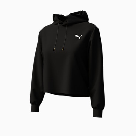 Cropped Women's Hoodie, Puma Black, small