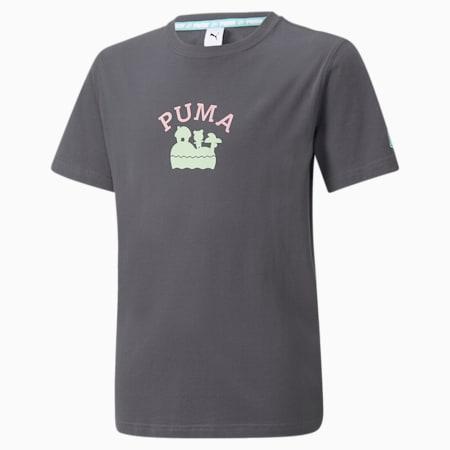 キッズ PUMA x あつまれ どうぶつの森 半袖 Tシャツ 104-152cm, Phantom Black, small-JPN