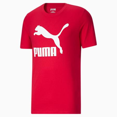 Camiseta Classics con logo para hombre, High Risk Red-Puma White, pequeño