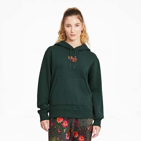 PUMA x LIBERTY Women's Hoodie, Green Gables, small-GBR