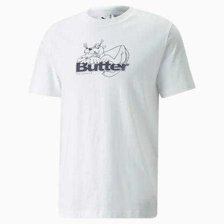 PUMA x BUTTER GOODS クリーム GRAP 半袖 Tシャツ, Puma White, small-JPN