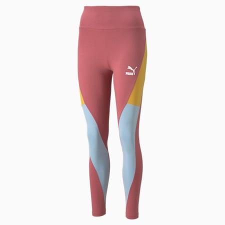 Leggings con cintura alta CLSX para mujer, Mauvewood-BHeights, pequeño