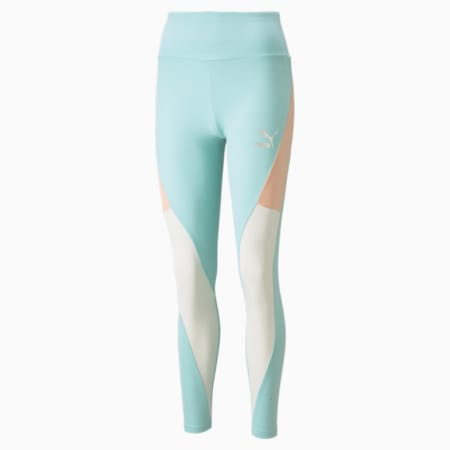 Leggings con cintura alta CLSX para mujer, Eggshell Blue-Gloaming, pequeño