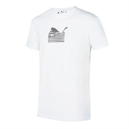 PUMA x FIRST MILE Hussle Way Logo Herren Basketball Tee, Puma White, small