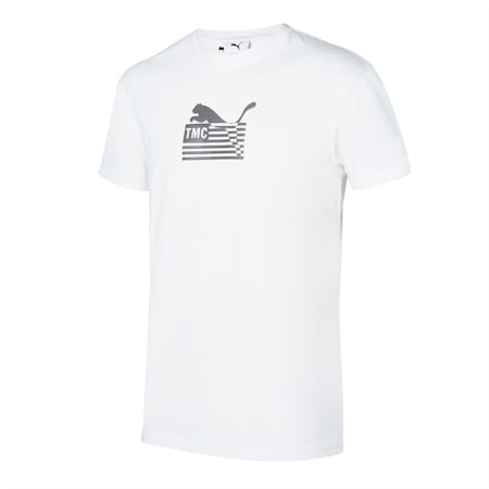 PUMA x FIRST MILE Hussle Way Logo Men's Basketball Tee, Puma White, small-GBR