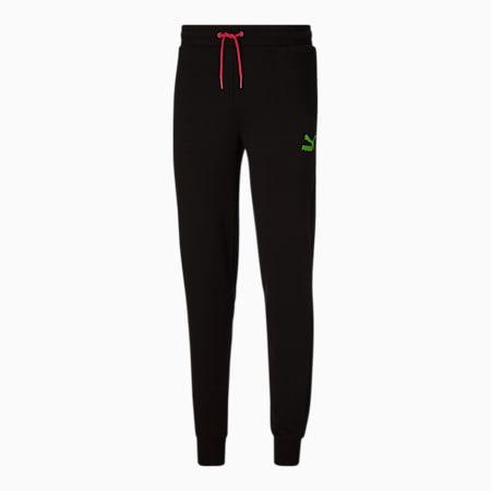 Pantalones deportivos de entrenamiento Dazed para hombre, Cotton Black, pequeño