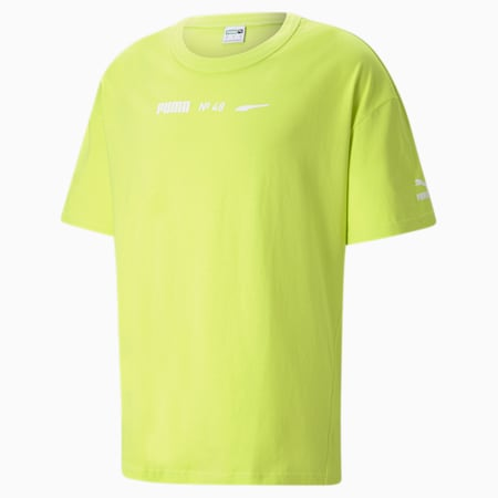 Statement Boxy Fit Men's Tee, Nrgy Yellow, small-GBR