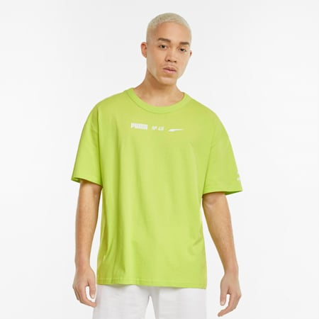 Statement Boxy Fit Men's Tee, Nrgy Yellow, small
