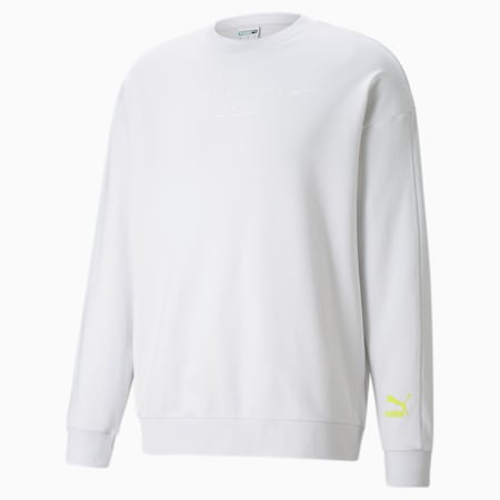 Statement sweater met ronde hals heren, Nimbus Cloud, small
