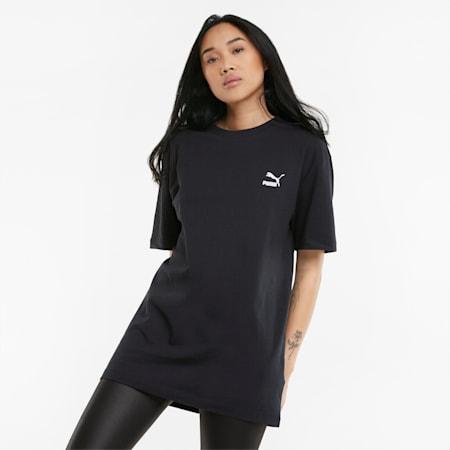Damski T-shirt oversize Statement, Puma Black, small