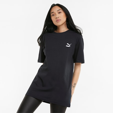 Statement Damen Oversize-T-Shirt, Puma Black, small