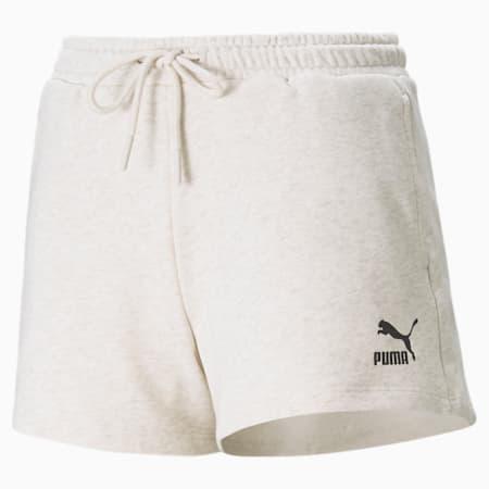High Waist Women's Shorts, Oatmeal, small