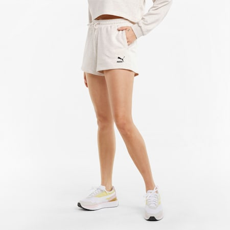 Damesshort met hoge taille, Oatmeal, small