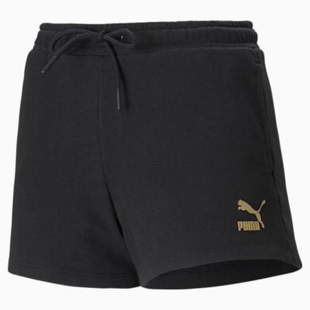 High Waist Women's Shorts, Puma Black, small
