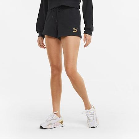 Shorts a vita alta donna, Puma Black, small