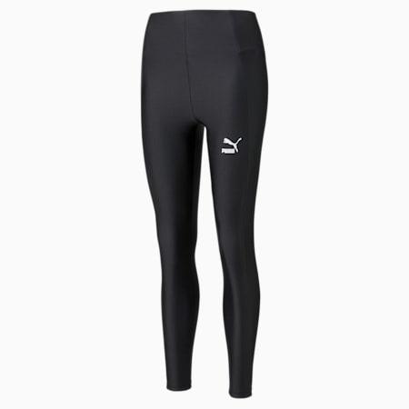 Classics PLUS Shiny Women's Leggings, Puma Black, small-GBR