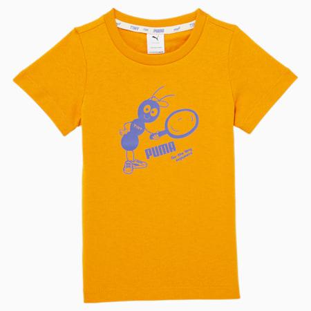 Camiseta PUMA x TINYCOTTONS para niños, Sunflower, pequeño