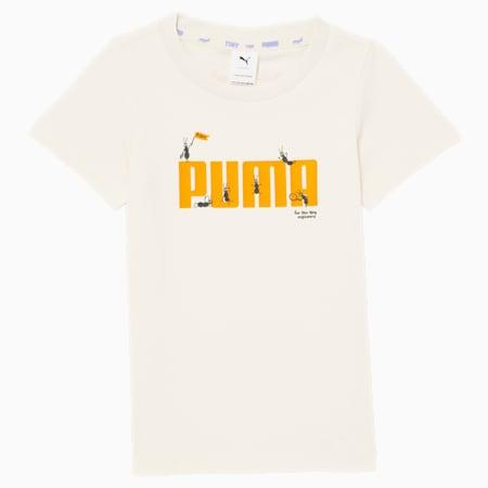 Camiseta PUMA x TINYCOTTONS para niños, Whisper White, pequeño