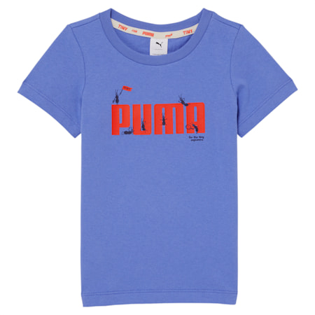 Dziecięca koszulka PUMA x TINYCOTTONS, Baja Blue, small