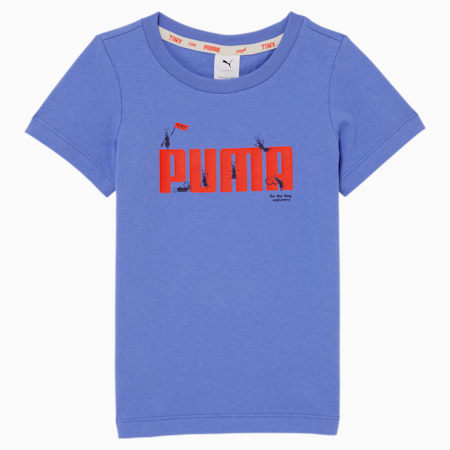 Camiseta PUMA x TINYCOTTONS para niños, Baja Blue, pequeño
