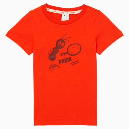 Camiseta PUMA x TINYCOTTONS para niños, Grenadine, pequeño