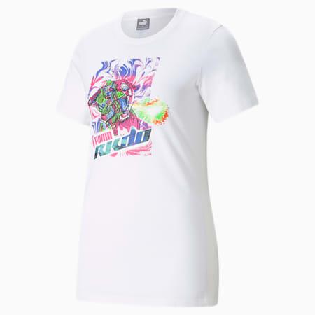 RKDO Esports Damen T-Shirt mit Print, Puma White, small