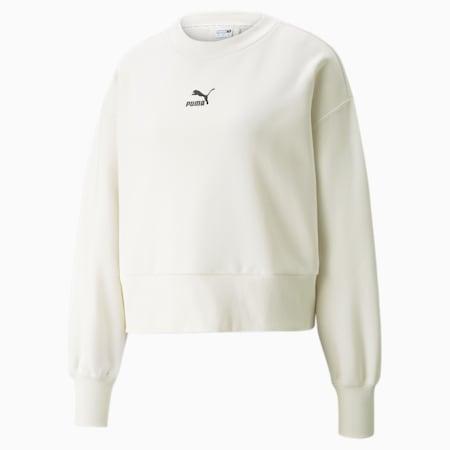 Classics Fashion Crew Neck Women's Sweatshirt, Ivory Glow, small