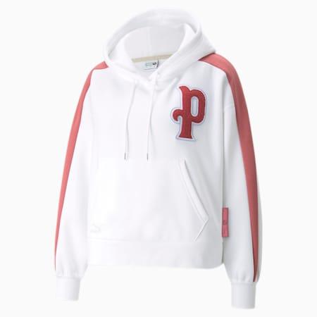Sudadera con capucha Team para mujer, Puma White, pequeño