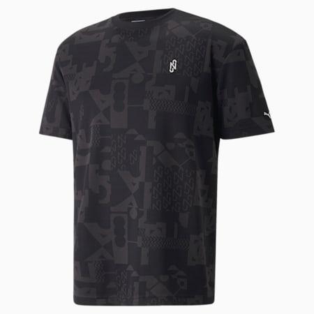 Camiseta Neymar Jr Elevated para hombre, Puma Black-AOP, pequeño