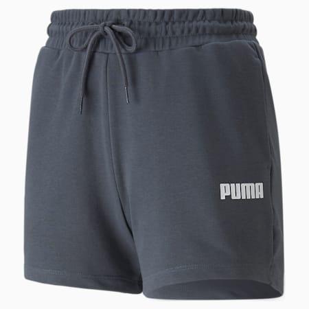 High Waist Women's Shorts, Ebony, small-GBR