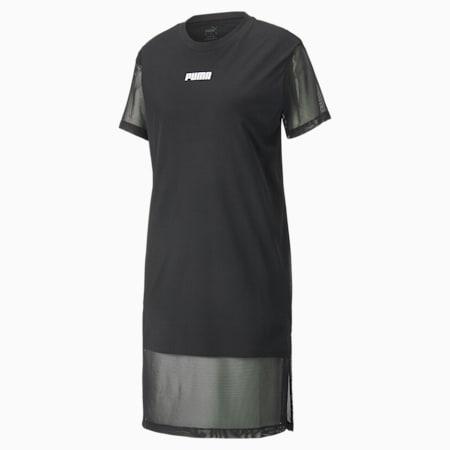 Mesh Detail Women's Dress, Puma Black, small-GBR