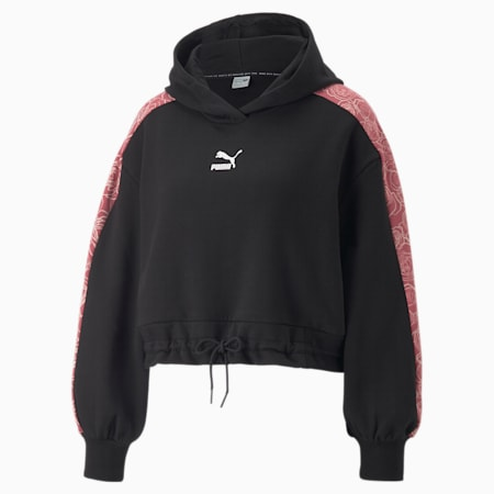 Cropped hoodie voor dames, Puma Black, small