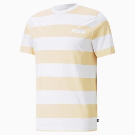 Block Striped Men's Tee, Puma White, small-GBR