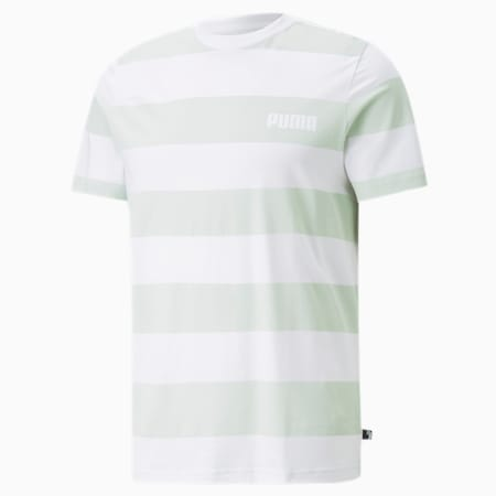 Block Striped Men's Tee, Green Lily, small-GBR