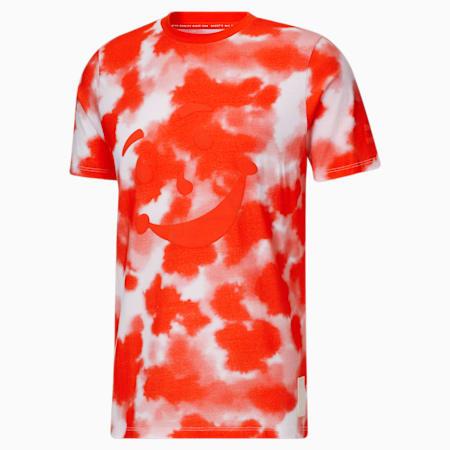 Camiseta de teñido anudado PUMA x Kool-Aid para hombre, Grenadine, pequeño