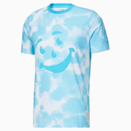 Camiseta de teñido anudado PUMA x Kool-Aid para hombre, Blue Atoll, pequeño