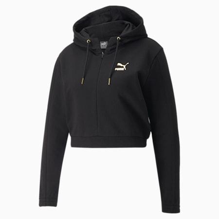 PUMA x PAMELA REIF korte hoodie voor dames, Puma Black, small