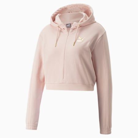 PUMA x PAMELA REIF korte hoodie voor dames, Lotus, small