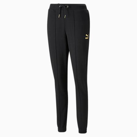 Damskie spodnie dresowe PUMA x PAMELA REIF Slim, Puma Black, small