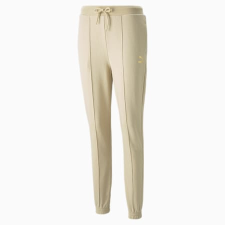 PUMA x PAMELA REIF slanke sweatpants voor dames, Pebble, small