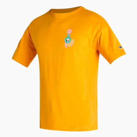 Downtown Graphic Women's T-Shirt, Mineral Yellow, small-IND