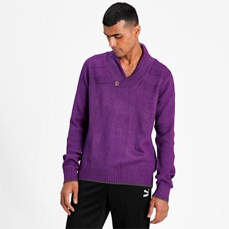 Shawl Collar Sweater, plum, small-IND