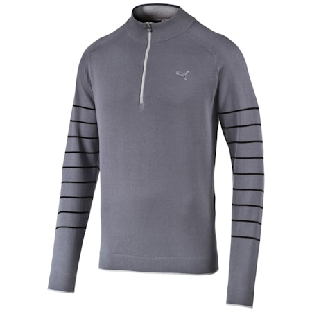 1/4 Zip Novelty Sweater, folkstone gray, small-IND
