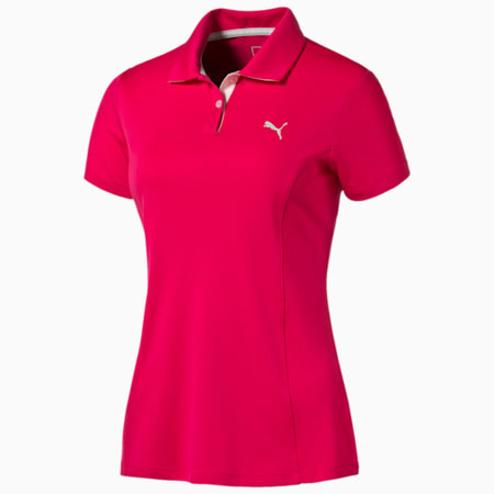 Golf Women's Pounce Polo, rose red, small-SEA