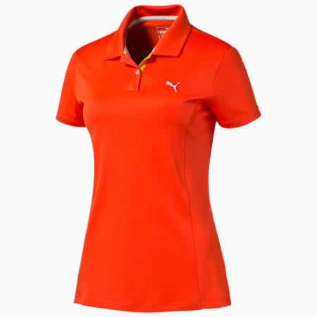 Golf Women's Pounce Polo, cherry tomato, small-SEA