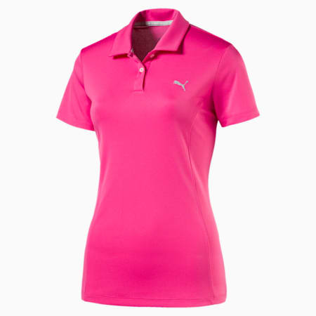 Golf Women's Pounce Polo, SHOCKING PINK, small-SEA