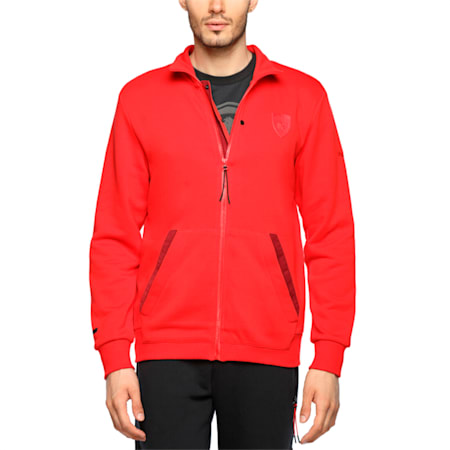 Ferrari Men's Sweat Jacket, Rosso Corsa, small-IND
