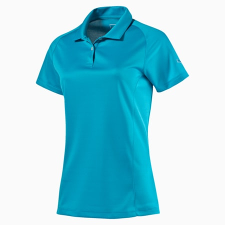 Women's Essential Golf Polo, atomic blue, small-SEA