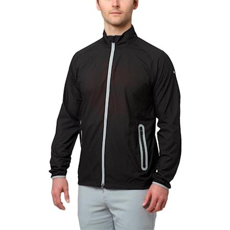 Golf Men's Full Zip Wind Jacket, Puma Black, small-SEA