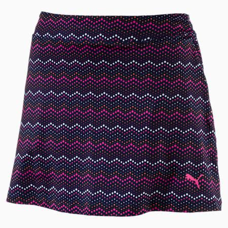 Women's Zig Zag Knit Skirt, Peacoat, small-SEA